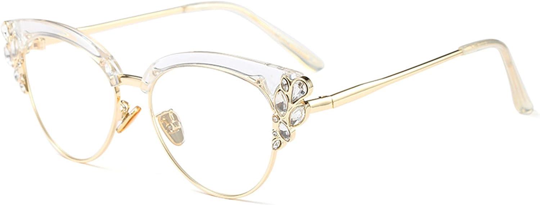 Rhinestones Philadelphia Mall Bling Cateye Reading Glasses Light Blue Import Women