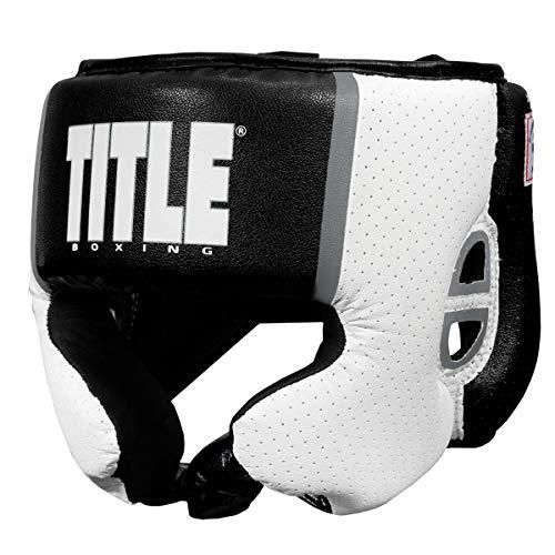Title Boxing Aerovent USA Boxing Competition Headgear, Black, Medium