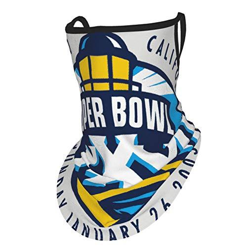 Super Bowl - Funda para la cara de triángulo, bufanda para orejas, protección UV, polaina para el cuello