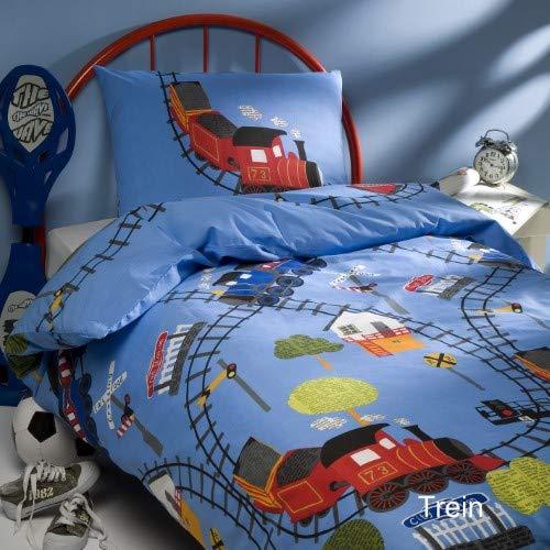 Day Dream kids Trein Bettbezüge, Baumwolle, Multi, 140 x 200 cm