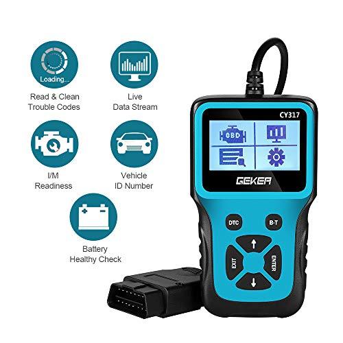 GEKER OBD2 Diagnosegerät, Auto Diagnosewerkzeuge Universal Handscanner USB Kabel Fehlercodeleser KFZ Auslesegerät Diagnose Scanner für OBDII Protokoll Auto Fahrzeuge zum Auslesen