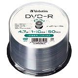 【Amazon.co.jp限定】Verbatim バーベイタム 1回録画用 DVD-R CPRM 120分 50枚 1-16倍速 シルバーレーベル インデックスカード付き VHR12J50L-A