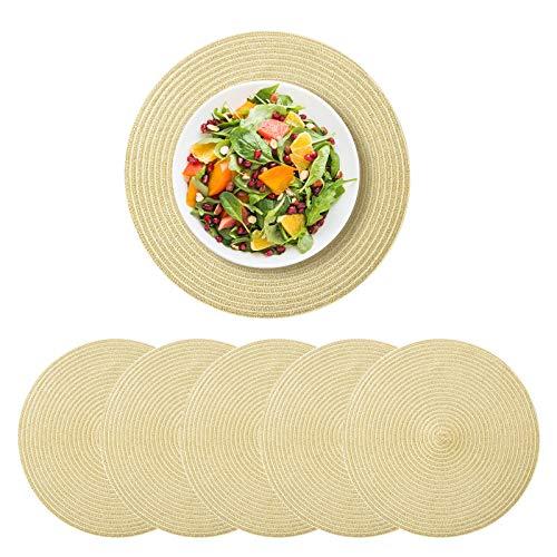 Hivexagon Tovaglietta rotonda - Tovaglietta rotonda con decorazione a intreccio per tavolo da...