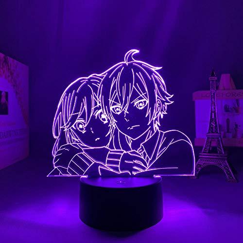 Lámpara LED 3D de sueño para decoración de habitaciones infantiles, luz nocturna, regalo de cumpleaños, mesa de anime, Revengers, lámpara 3D para fiestas y celebraciones
