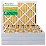 FilterBuy 20x20x2 MERV 11 Pleated AC Furnace Air Filter, (Pack of 4 Filters), 20x20x2 – Gold