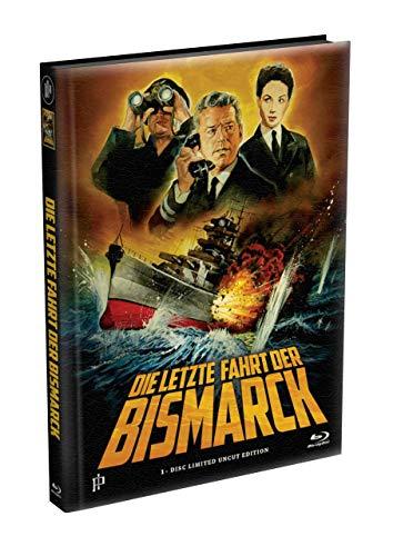 DIE LETZTE FAHRT DER BISMARCK - Wattiertes Mediabook Cover A [Blu-ray] Limited 333 Edition