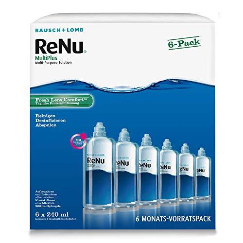 Bausch und Lomb ReNu MultiPlus Kombilösung, Pflegemittel weiche Kontaktlinsen, 6-Monatspack, 6 x 240 ml