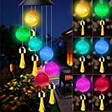 KNMY Campanilla de Viento Solar, Color Spinner Ball lámpara, Patio Iluminación Decoración para Exterior jardín