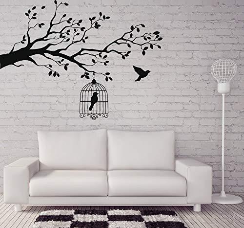 Sanzangtang muurtattoo vogel kooi takken sticker van vinyl muursticker dier en vogel laten de vogel decoreren de slaapkamer