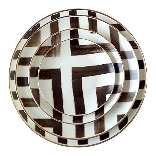 WUBING Nordic Bone China Plate Crossroads Ceramic Plate