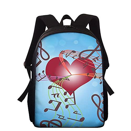 daweiwei Lustiger 3D Herzdruck Jungen Mädchen Rucksack Reise Dayback für Teens Grundschule Taschen Student Buch Umhängetasche Rucksack 38*27*11cm 2