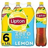LIPTON ICE TEA Zero Lemon, Zuckerfreier Eistee mit Zitronen Geschmack (6 x 1.5l)