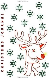 CHRISTMAS REINDEER PLANNER JOURNAL: Cute 6 x 9 Reindeer Holiday Journal Series: