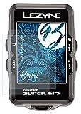 Bruni Película Protectora Compatible con Lezyne Super GPS Protector Película, Claro Lámina Protectora (2X)