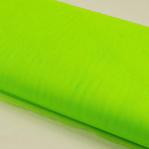 Stoffe Werning Tüll Uni einfarbig neongrün Meterware zum Nähen von Karnevalskostümen und Accessoires - Preis Gilt für 0,5 Meter