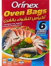 Orinex Oven Bags 43/55cm ,Jumbo, 6Bgs, Clear