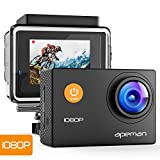 APEMAN Action Cam A66, Full HD 1080P con Custodia Impermeabile Subacqueo Action Sport Came...