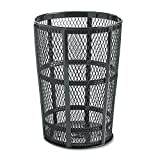 Rubbermaid Commercial Street Basket Trash Can, 45 Gallon, Black, FGSBR52BK