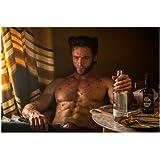 Hugh Jackman 8x10 Photo Xmen Wolverine Les Misérables shirtless bottle
