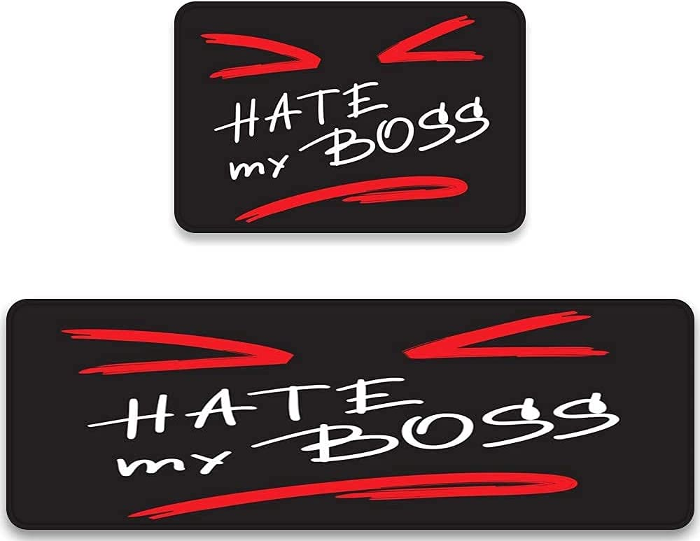 Midetoy Kitchen Rugs New Shipping Free Shipping Sets 2 Piece My Black Stick Hate Max 73% OFF Funny Boss