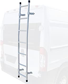 Vantech Rear Access Ladder. Fits Sprinter, ProMaster, Transit Cargo & Nissan NV High Roof (Silver)