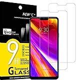 NEW'C 2 Unidades, Protector de Pantalla para LG G7 ThinQ, Antiarañazos, Antihuellas, Sin Burbujas, Dureza 9H, 0.33 mm Ultra Transparente, Vidrio Templado Ultra Resistente