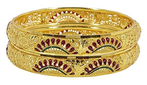 Banithani, Bracciale da Donna Placcato Oro, 4 Pezzi, Gioielli 2.6 e Lega, Colore: Color Oro, cod. BSG2993C