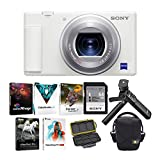Sony ZV-1 Camera for Content Creators and Vloggers (White) with Sony ACCVC1 Vlogger Accessory Kit and KOAH Pro Rugged Memory Storage Carrying Case Bundle (3 Items)