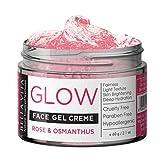 Crema facial iluminadora de rosas de día y de noche para pieles grasas y normales