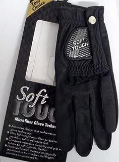 Soft Touch Microfiber Golf Glove Black Men's LH Medium