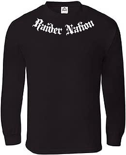 Parazon Men Raider Nation Addict Old English Long Sleeve Shirts T18 Black
