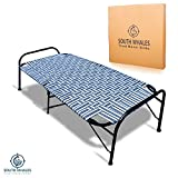 South Whales Single Folding Platform Bed | Portable Bed for Sleeping | Beds