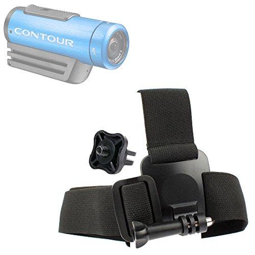 DURAGADGET Contour Action Camera Helmet Mount - Anti-Slip Replacement Head/Helmet Strap Mount for Contour +2, Contour Roam 2 & Contour Roam - Plus GoPro Screw Thread Adapter