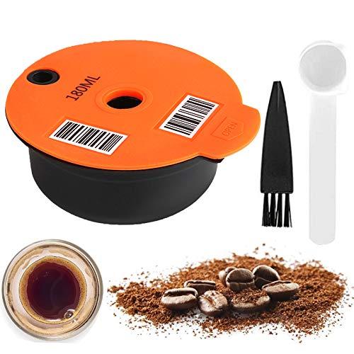 Cápsulas de café reutilizables para Tassimo, filtro de café recargable, cápsulas de café con código de barras legible compatibles con máquinas Tassimo de Bosch-s