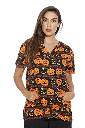 Halloween scrub tops Amazon