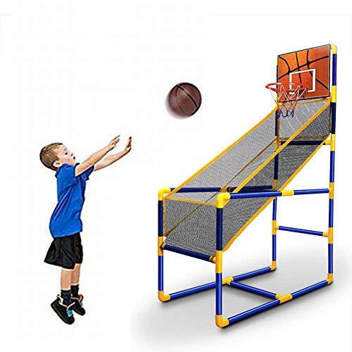 Arcade Basketball Hoop Interior, Set de Actividades Deportivas Set Shoot Hoop - Soporte de aro de Baloncesto y Neto - Uso Interior / Exterior - Bola y Bomba Incluidas - Fácil de Montar