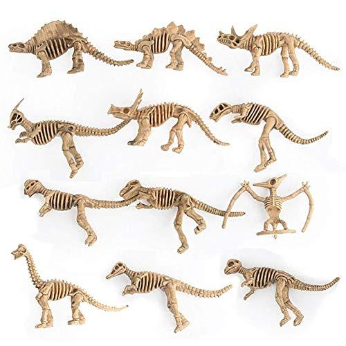 WE-WIN 12PCS pädagogisches simuliertes Dinosaurier-Skelett-Modell scherzt Kinderspielzeug-Dinosaurier-Geschenk