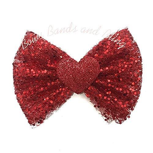 Toddler headband Glitter headband Felt heart headband Red heart Valentine/'s day headband Baby girl headband