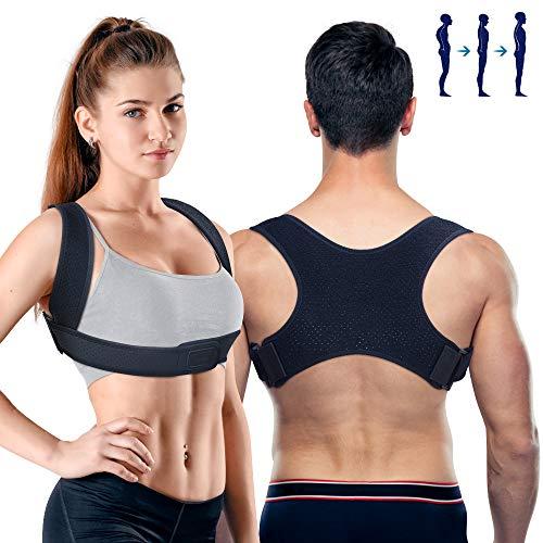 PORTHOLIC Geradehalter zur Haltungskorrektur Rückenstütze Rückenbandage 2 Modus Verstellbare Rücken Haltungstrainer Rückentrainer Schulterträger Rückenstabilisator für Damen Herren Nacken Schmerzen