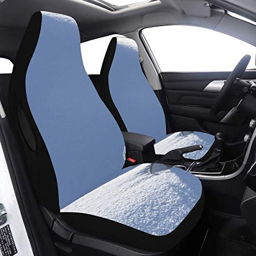 2 Stück Set Autositz Autoabdeckung Weiß Little Snow Rabbit Abdeckung Kinderauto Kompatibel für Airbags Universal Fit für Autos LKWs und SUVs Luxus-Autoabdeckung