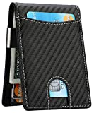Money Clip Wallet - Mens Slim Front Pocket Leather Wallet RFID Blocking Minimalist Mini Wallet...