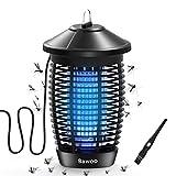 Bawoo Mosquito Killer eléctrico 4000V 20W Lámpara Anti Mosquitos Luz UV IP67 Impermeable Mosquito Lámpara Trampa Matar Mosquitos, Moscas, Polillas, para hogar