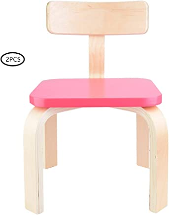 Bentwood Child Chair  2pcs Small Birch Bentwood Children Chair Stool Nursery Seat Kids Dining Gaming Nursery Chair Bedroom Playroom Lounge Furniture Red