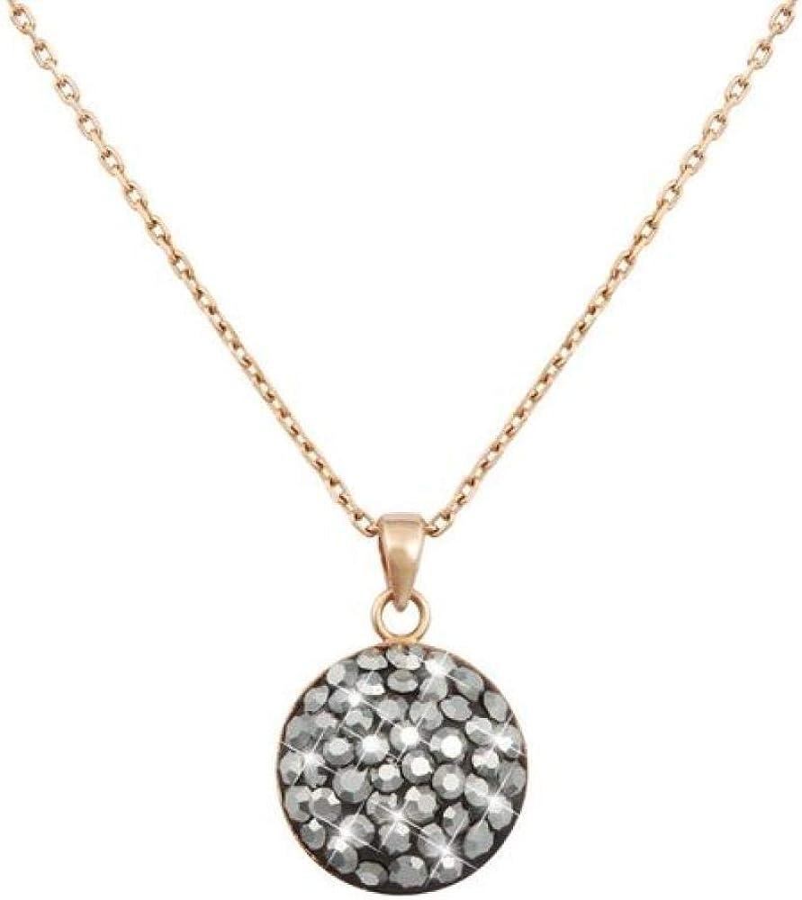 Stroili collana girocollo per donna in argento 925 rosato e cristalli hematite 1628418