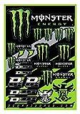 Monster Energy Planche d'autocollant 19 Stickers 40-90-102 Moto Scooter kit déco