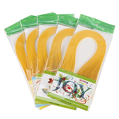 3mm 600 Rayas Quilling Paper Stripes Quilling Paper Origami DIY Paper Quilling Tools Manualidades Decoración para niños adultos(amarillo oscuro)
