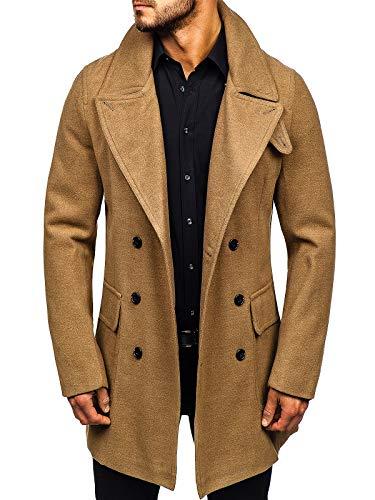 BOLF Cappotto Invernale – da Uomo J.Boyz 1048 Cammello M [4D4]