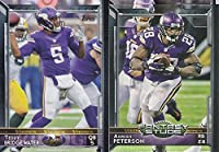 Minnesota Vikings 2015 Topps NFL Football Complete Regular Issue 16 Card Team Set Including Cordarrelle Patterson, Adrian Peterson, Teddy Bridgewater and More