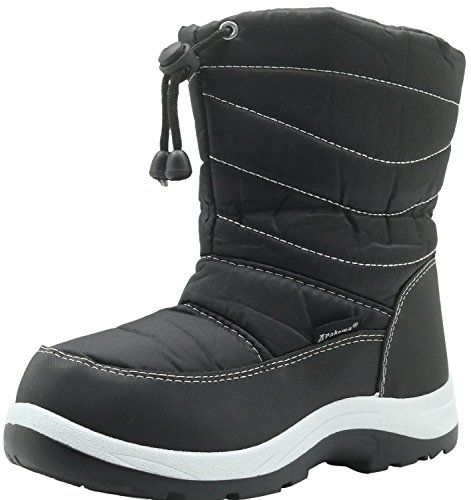 Apakowa 2017 New Kid's Winter Snow Boots (Toddler/Little Kid) (Color : Black, Size : 11.5 M US Little Kid)