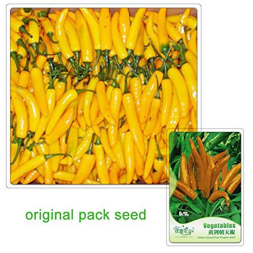 20 graines / Pack, Chili Peppers Graine Jaune ChaoTianJiao meilleur jardin plantes potagères Semences